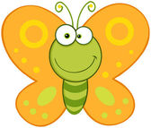 Usmívající se motýl maskot charakter