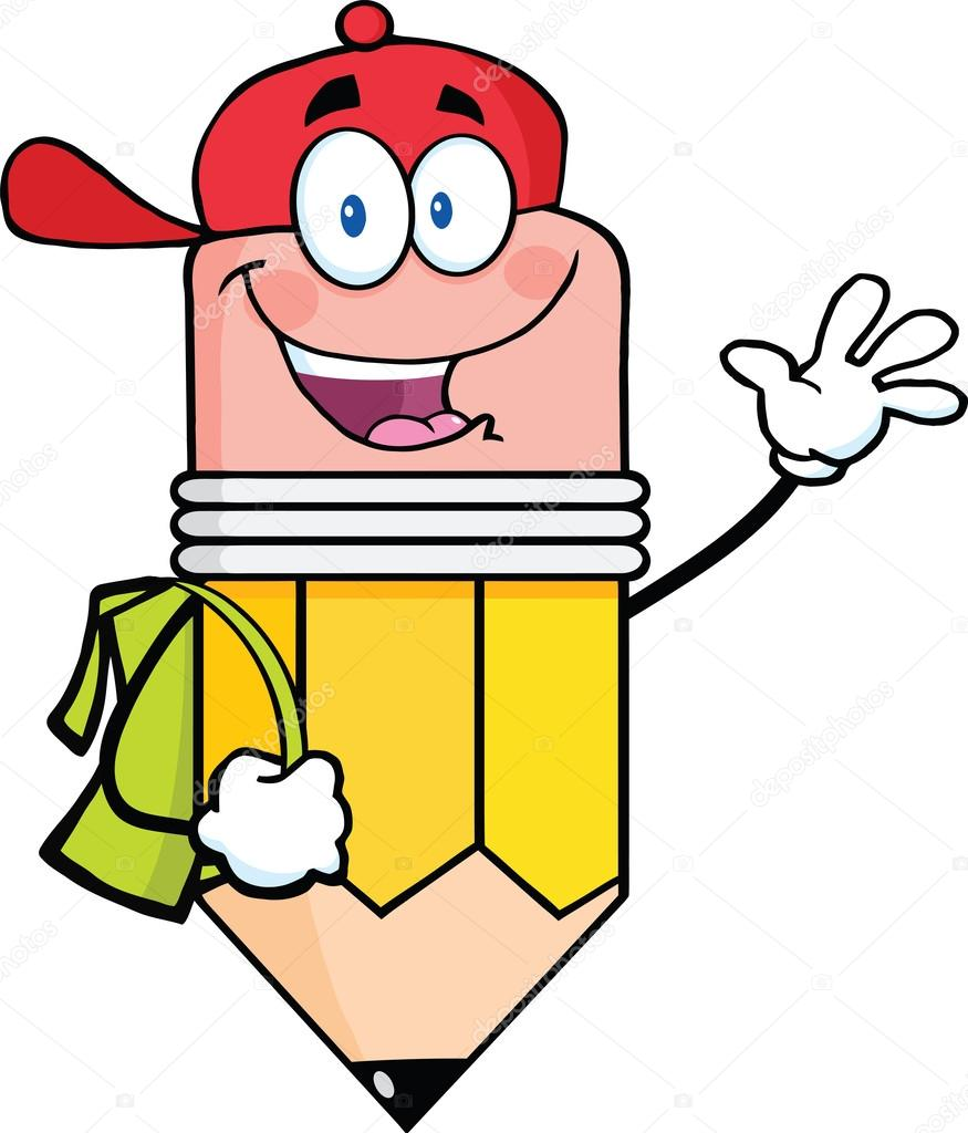 happy pencil student going to school stock photo  u00a9 hittoon 28936139 clipart pennsylvania clipart pencil and pen