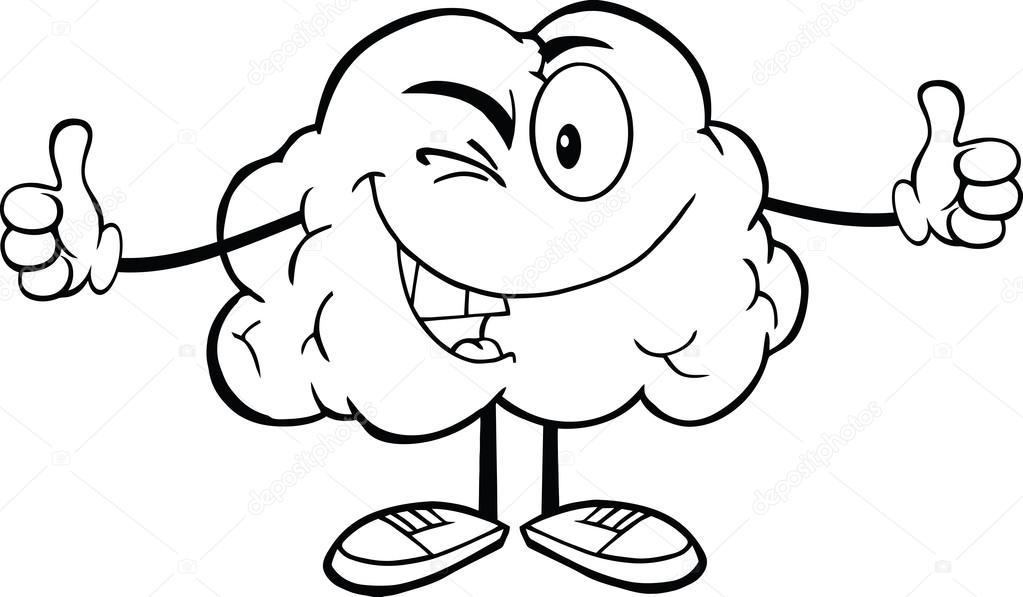 contorneado guiño carácter cerebral — Fotos de Stock © HitToon #29086367