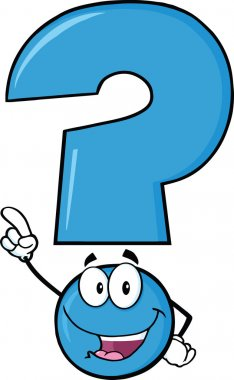 Happy Blue Question Mark