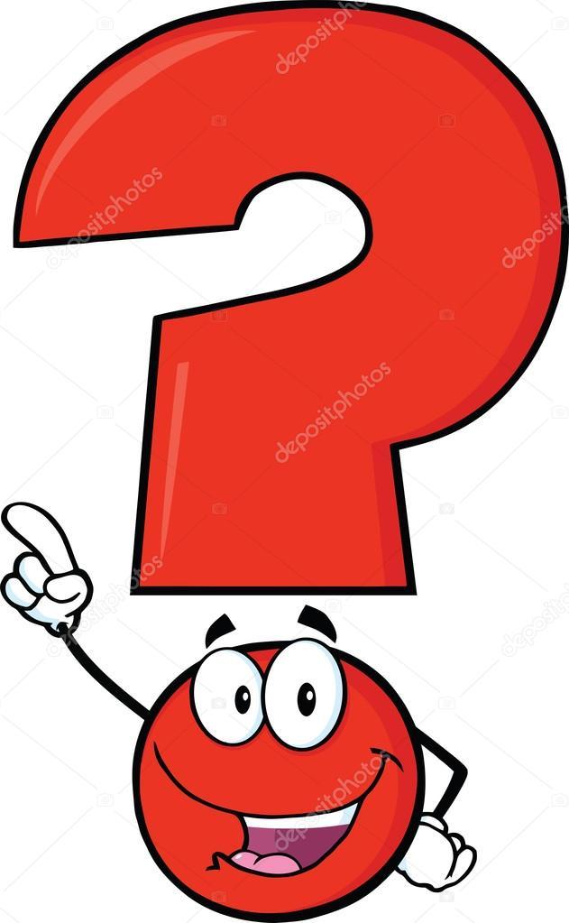 glücklich rote Fragezeichen — Stockfoto © HitToon #29901327