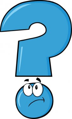 Blue Question Mark Thinking