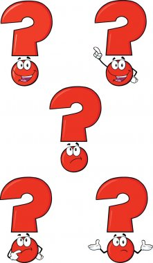 Red Question Mark Set Collection