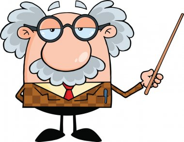 Funny Professor Holding A Pointer