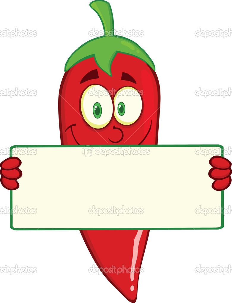 Personnage de dessin anim piment rouge souriant tenant - Dessin piment ...
