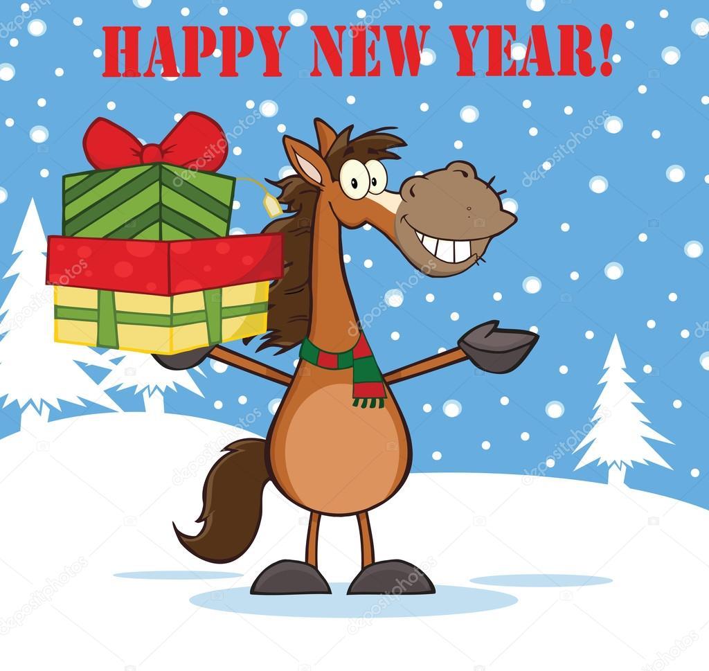 Bildergebnis für happy new year pferd