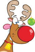 Photo Crazy Reindeer With Christmas Ball
