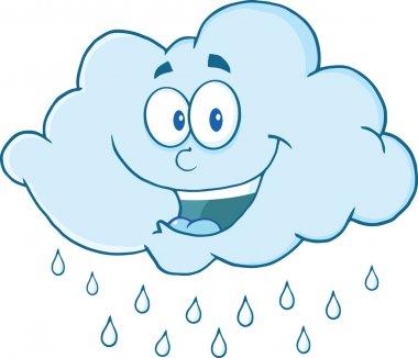 Cloud Raining Cartoon Mascot Character