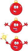 Photo Christmas Ball Cartoon Characters Collection Set