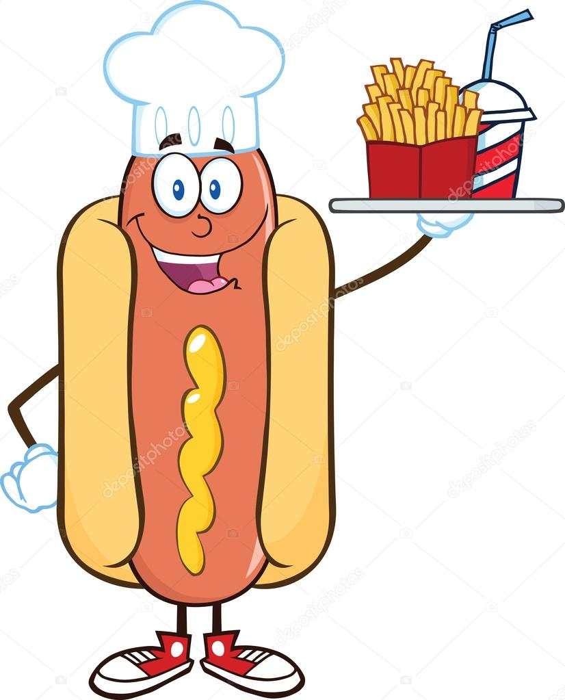 Hot Dog Clipart Face