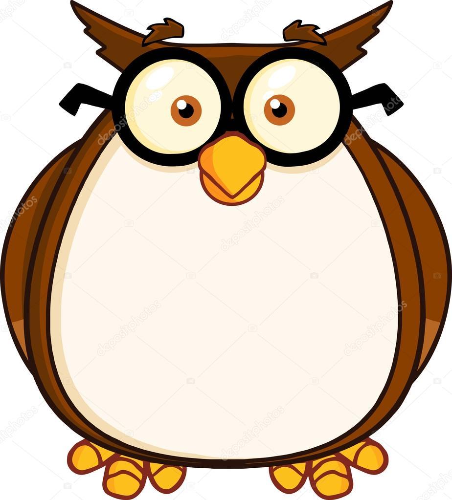 personnage de dessin anim de matre hibou sage avec des lunettes photo - Maitre Hibou