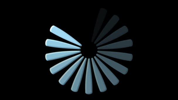 ikona počítače zatížení na černém pozadí