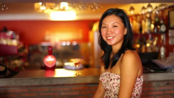 Asian bar girl video