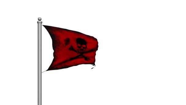 Vlajka pirátská lebka a zkřížené kosti