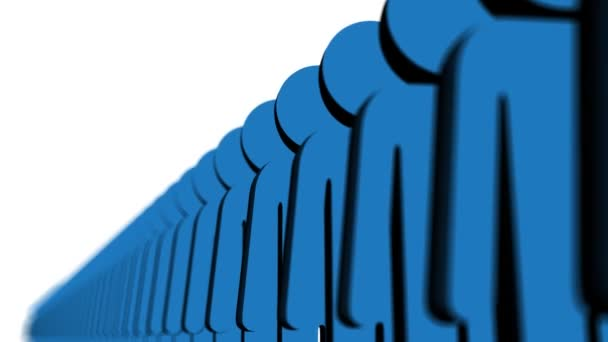 Line of blue