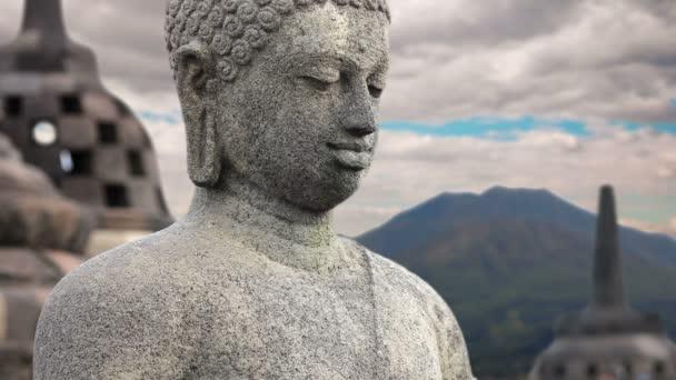 Borobudur socha Buddhy, Indonésie