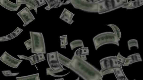 dolarové bankovky na černém