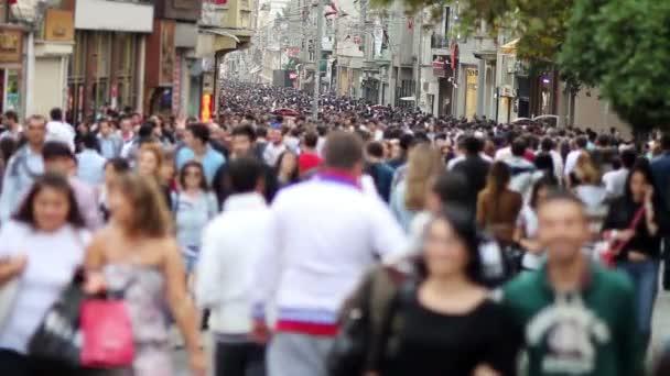 walking in a crowded street