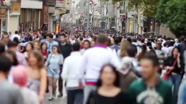 Walking in a crowded street, timelapse