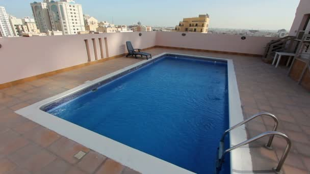 Swimming Pool At Roof Of Apartment In Bahrain Video By Kagemusha Stock Footage 22735839