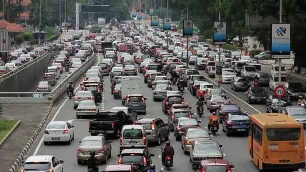 Traffic jam in city center