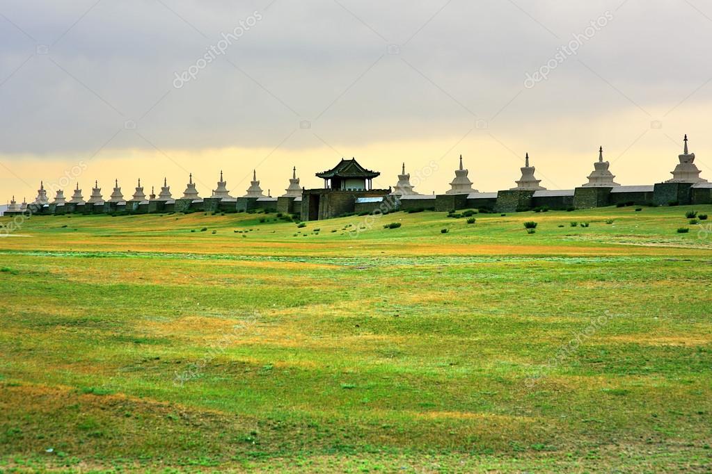 Karakorum city walls, old capital of mongolia