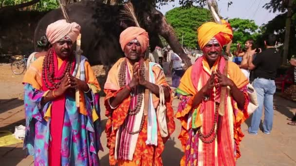 Local men in traditional outfit