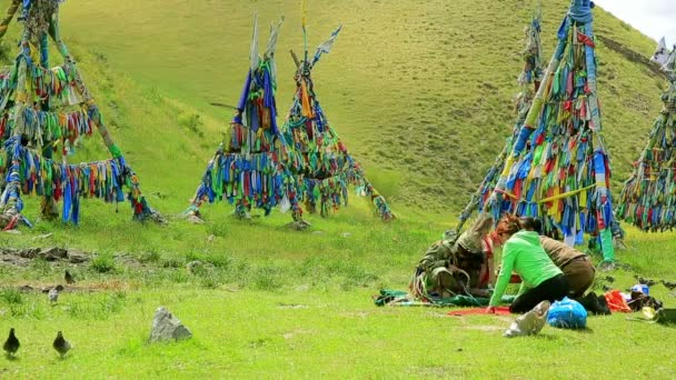 lidé při šamanské ceremonie