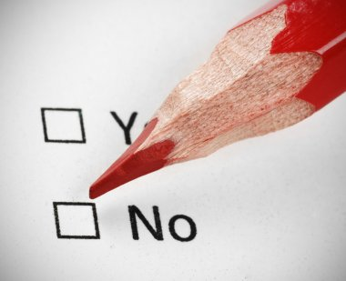 Questionnaire yes or not
