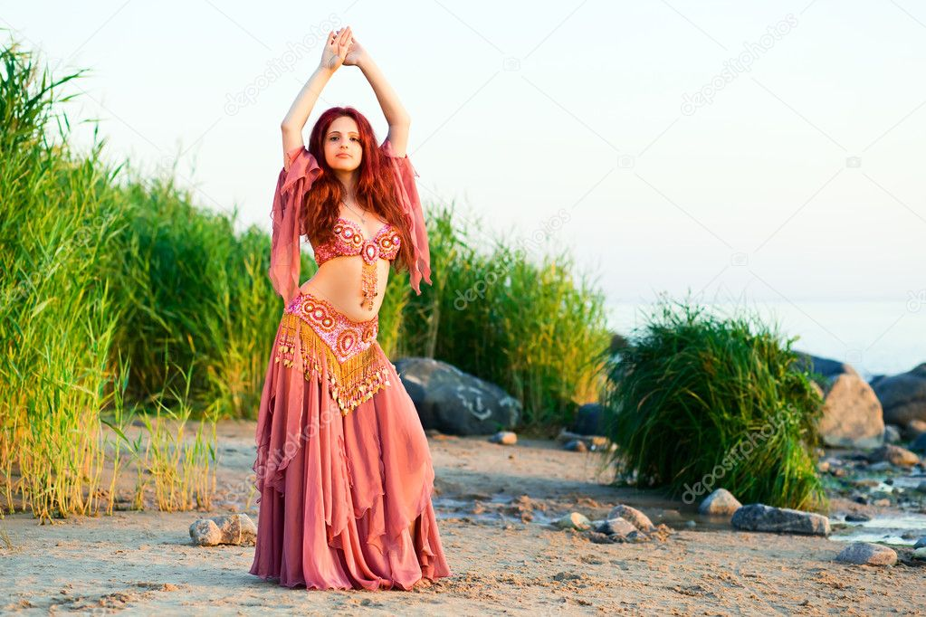 Girl In Belly Dancer Dress