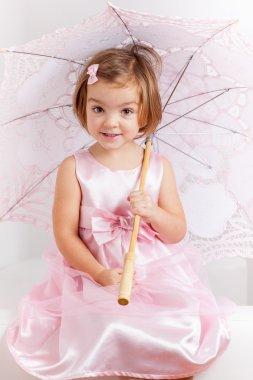 Cute playful little princess