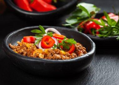 Traditional chilli con carne