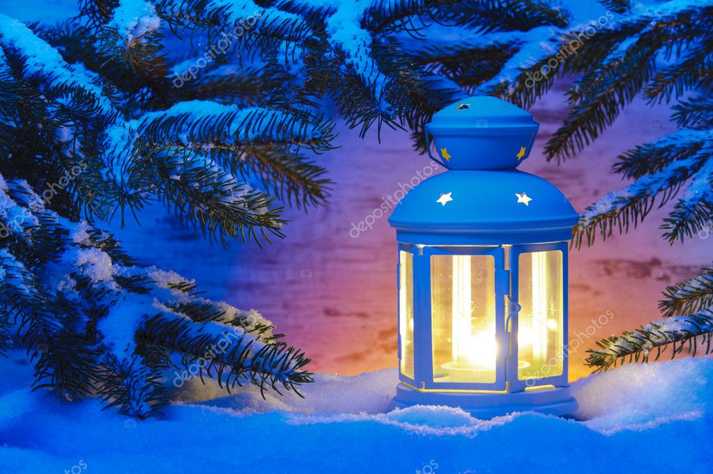 Christmas candle light lantern