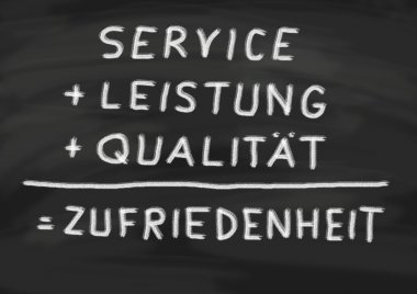Service, achievement, quality and its result satisfaction