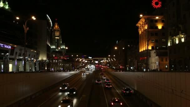 Nachtverkehr in Moskau