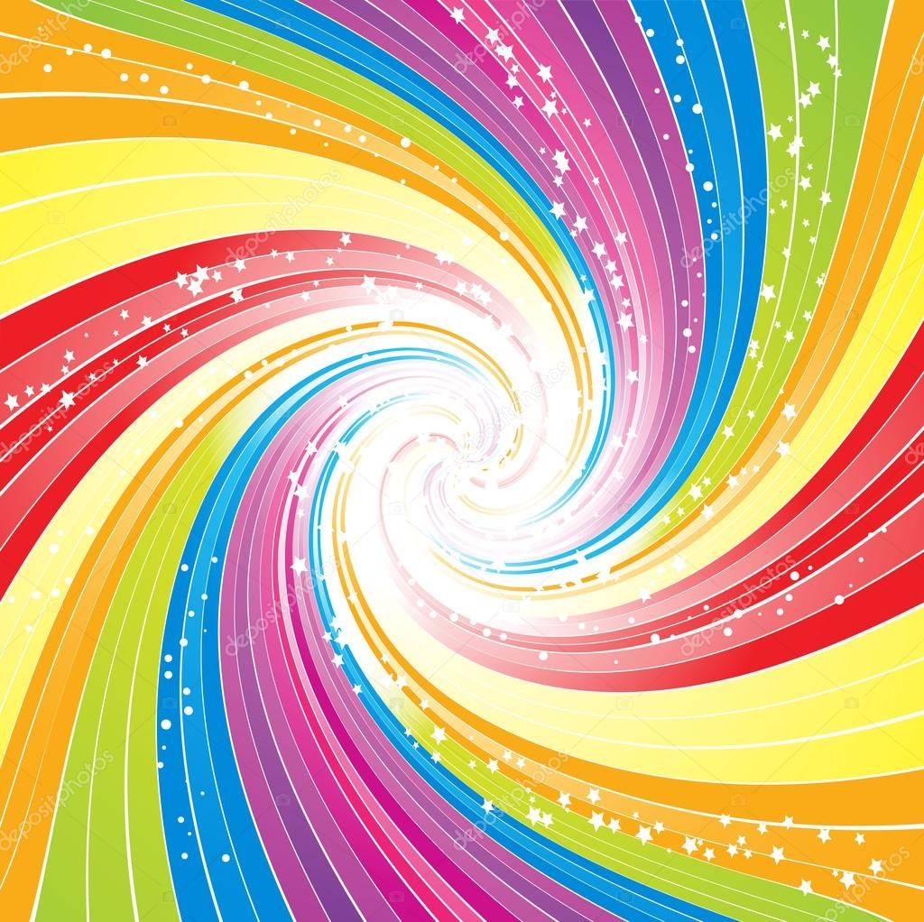Abstract Rainbow Lines Vector Background