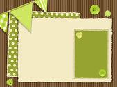 Photo Scrapbooking green layout