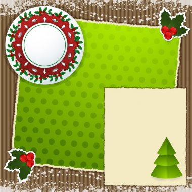 Christmas scrapbooking background