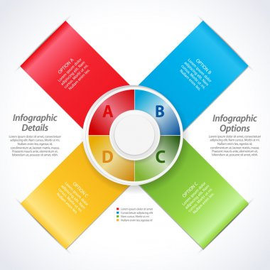 vector design banner ribbons and 3d dial