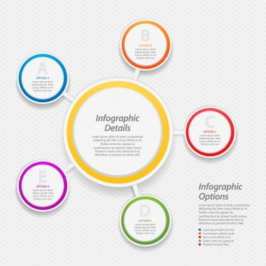 colourful infographic circle background