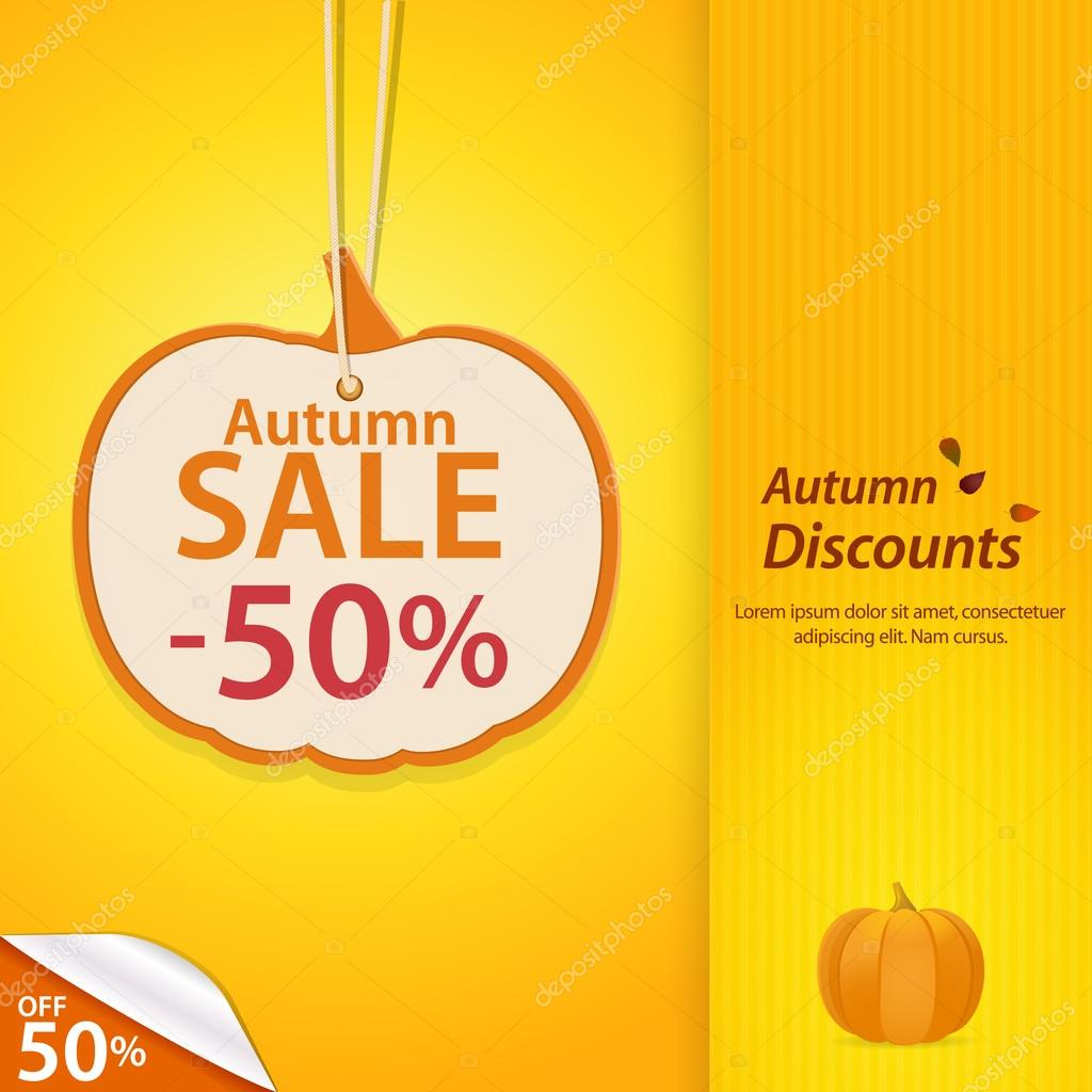autumn pumpkin discount label