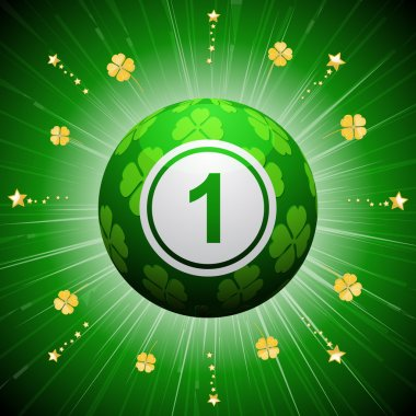 lucky four leaf clover bingo ball