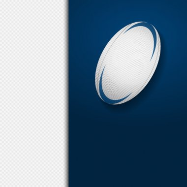 Rugby ball panel background