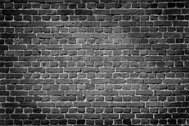 Old dark brick wall