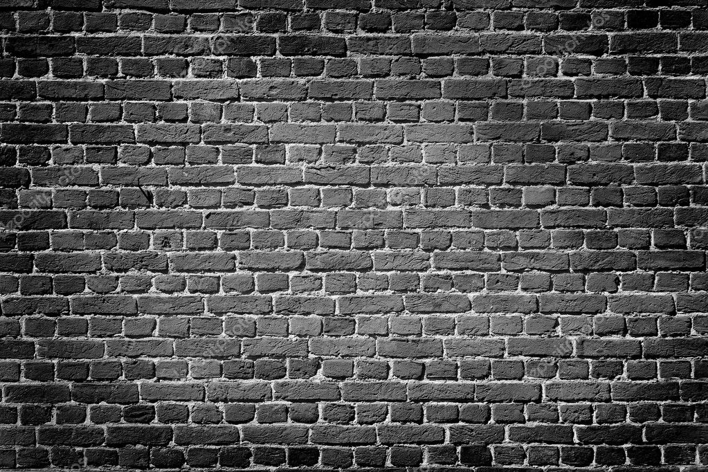 Old dark brick wall  Stock Photo #16353779
