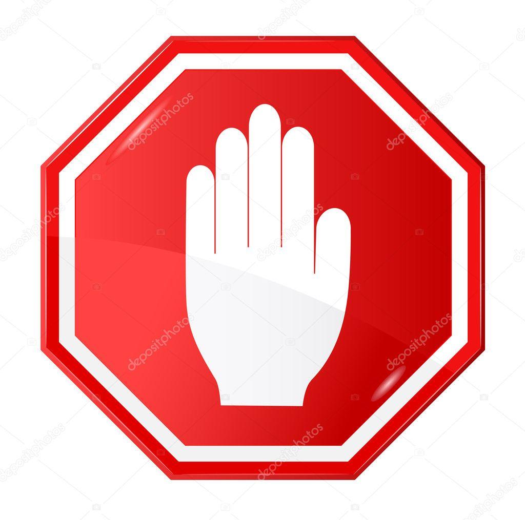 vector illustration of stop signal sign stock vector tkemot rh depositphotos com stop sign vector image stop sign vector free