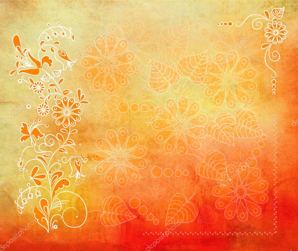 art floral grunge graphique fond avec des couleurs chaudes photographie hofhauser 32936781. Black Bedroom Furniture Sets. Home Design Ideas