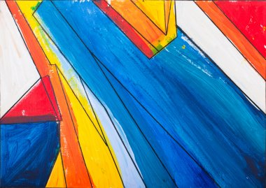 Abstract painting and bold colors
