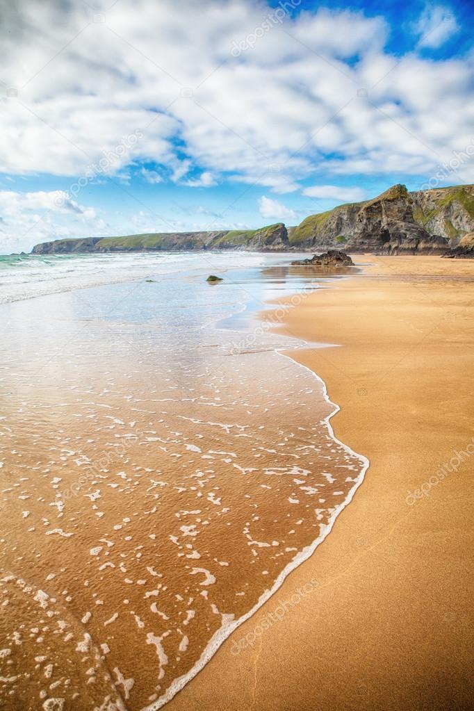 Stunning beach and rocky coastline