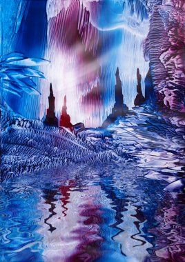Cavern of Castles painting in wax